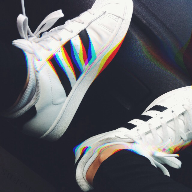 adidas, grunge, hipster, rainbow, shoes, sneakers, trainers, tumblr ...