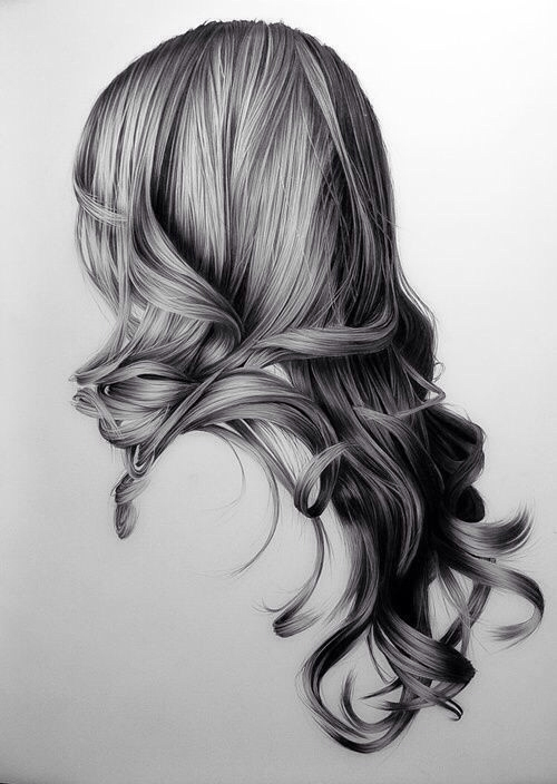 art, beautiful, beauty, black white, drawing, girl, hair, lide, woman, First Set on Favim.com