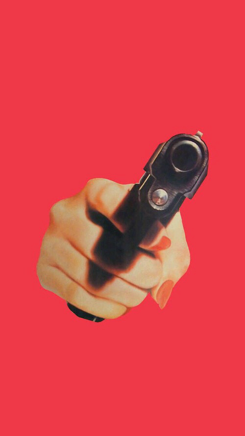 cool, girly, gun, hand, nails, pink, pistol, red, wallpaper