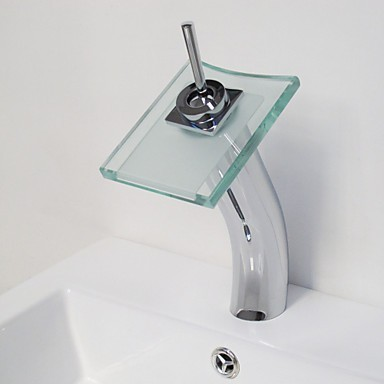 Contemporary Waterfall Bathroom Sink Taps Tall [N0762] - - image ...