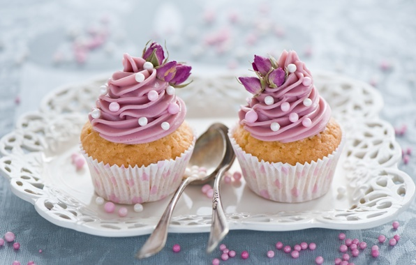 baking, cream, cupcakes and decorations