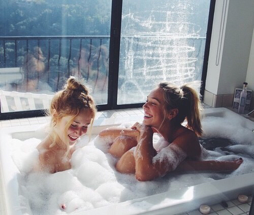 Anime lesbian girls in the bath the most