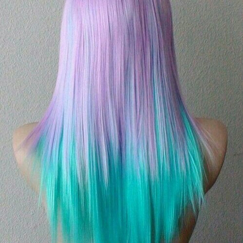 blue color dye girl girls green grunge hair ombre