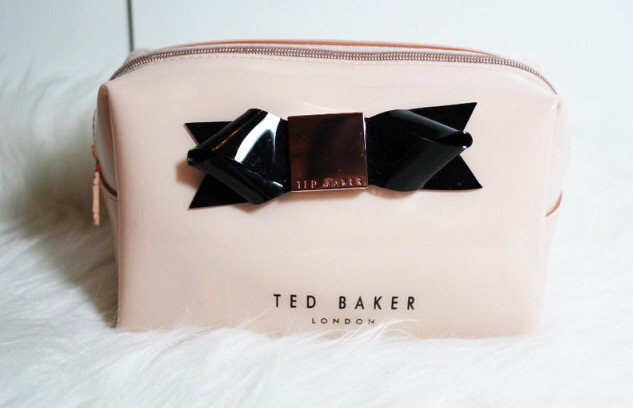 accessories, beauty, black, bow, cute, designer, expensive, fashion, girly, gold, london, luxury, makeup, makeup bag, perfect, pink, rose gold, ted baker, ​beautiful