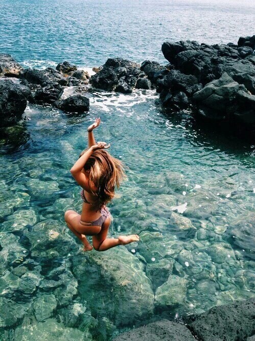 amazing, awesome, beauty, cool, girl, gorgeous, happiness, happy, jump, lifestyle, love, lovely, nice, ocean, pretty, rock, sea, summer, sun, water, beautiful