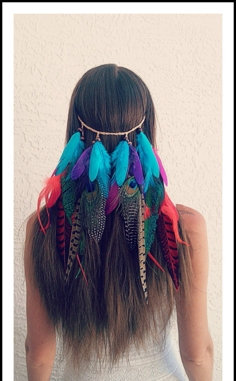 colourful, feather, girl, hair, lovely, tumblr, ​beautiful