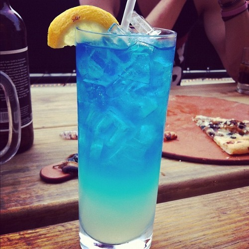 blue, cocktail, drink and food