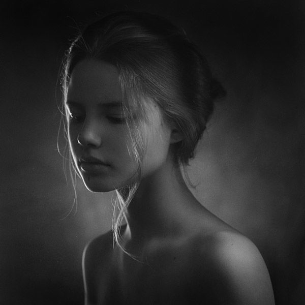 beautiful, black&white, girl and photography