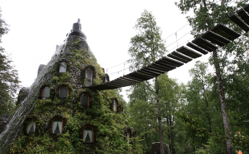adventure, building, chile, forest, hotel, nature, outdoors, travel