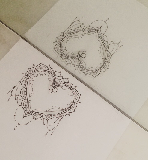 black black and white cool diy draw drawing heart love paper piercing tattoo tattoos. Black Bedroom Furniture Sets. Home Design Ideas