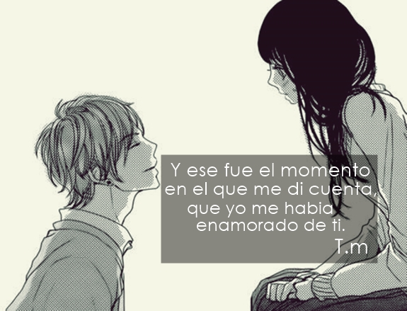 amor, black and white, boy and girl, cute, frases, kawaii,