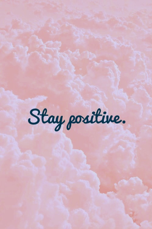 clouds, pink, sky, stay positive, dreams.