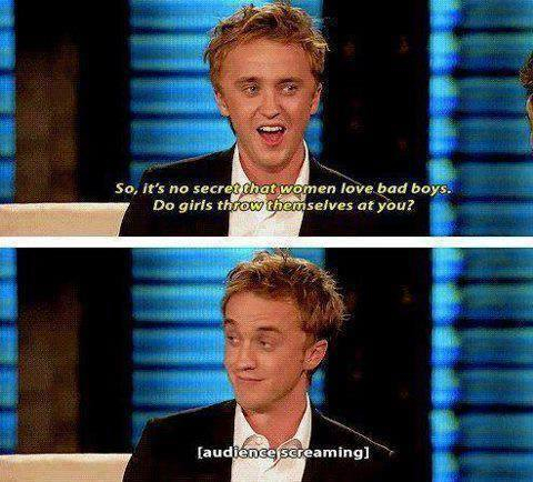 actor draco malfoy fangirl funny interview quotes slytherin