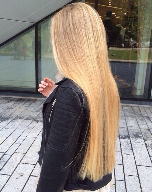 beautiful blonde fashion girl hair leather leather