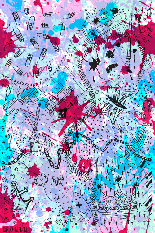 abstract, art, background, blue, butterfly, cut, draw, illustration, modern, painting, pink, sky, splash, style, tint, tinta
