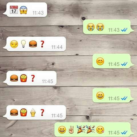amazing, awesome, background, beautiful, chat, cool, couple, day, emoji, food, fries, fun, funny, hamburger, happiness, happy, ice cream, love, mc donalds, propose, question, smile, text, tumblr, wallpaper, whatsapp, wonderful, emojis, friday 17
