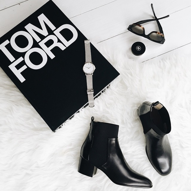 black, black and white, book and chanel