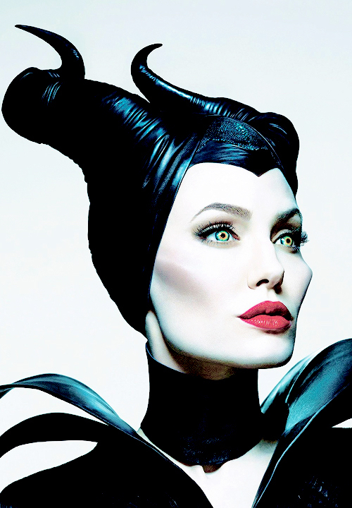 angelina jolie, aurora, beautiful, black, cheekbones, disney, edit, fandom, film, green eyes, horns, maleficent, movie, prince phillip, princess, red lips, sleeping beauty