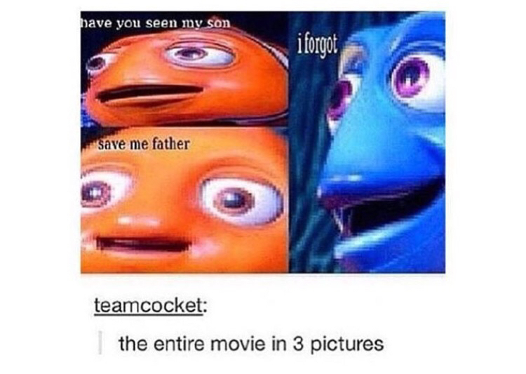 cute, disney, finding nemo and funny