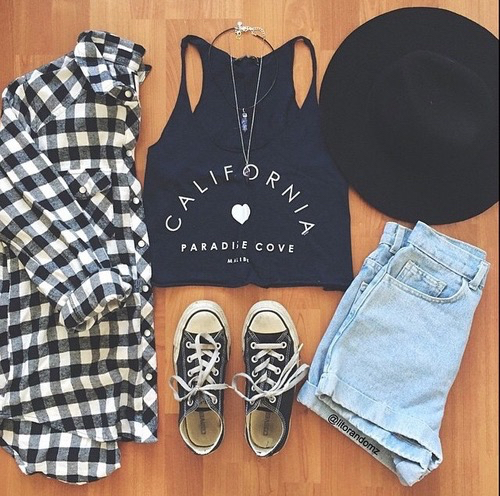 California Clothes Clothing Cute Fashion Flannel Flannels Hat Hats Outfit Outfits