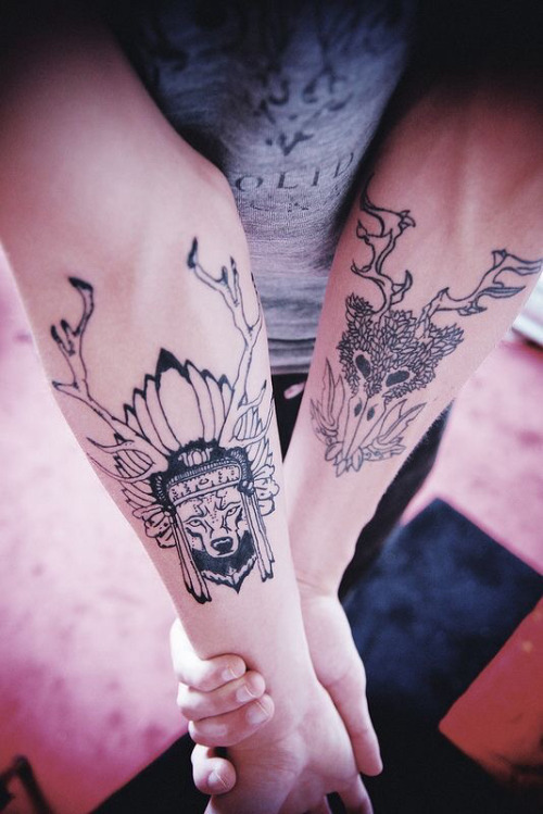 grunge, hipster, photography and tattoos