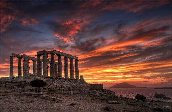 athens, greece, landscape, sky, sunset