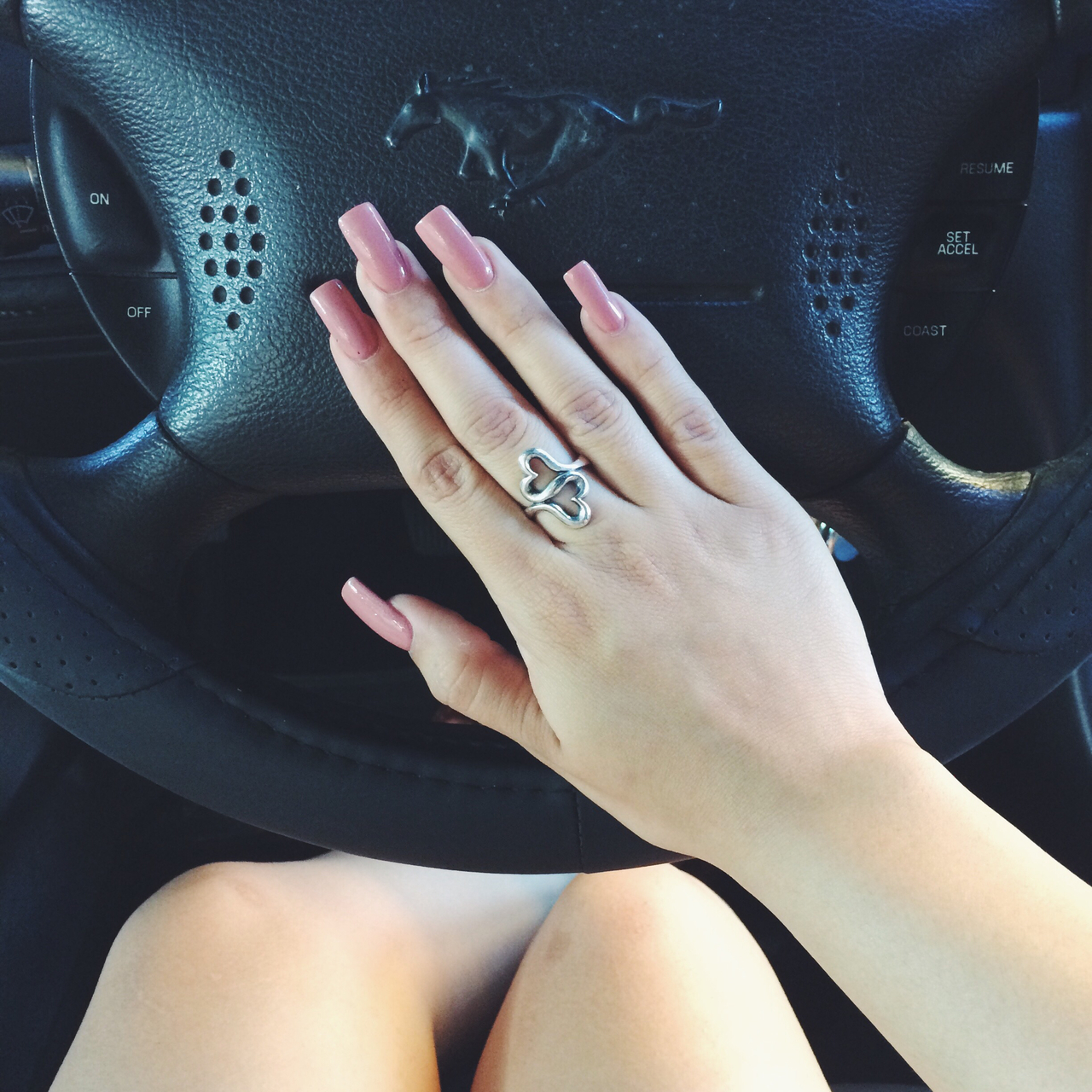 acrylic, car, fashion, inspiration, jenner, kylie, mustang, nails, style, trend