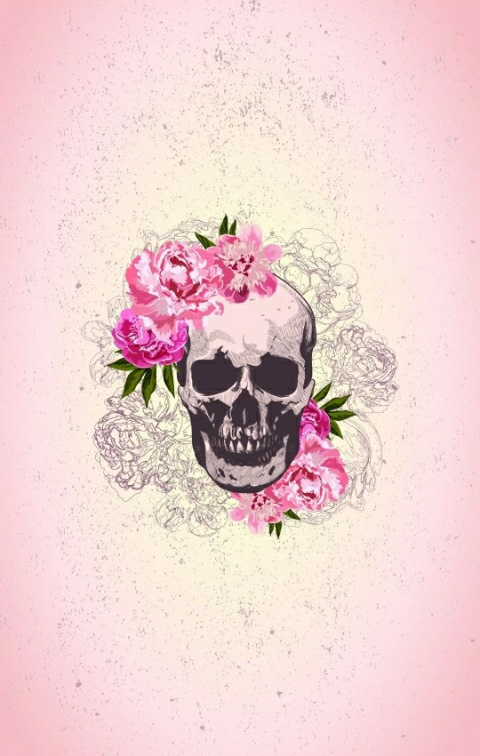 Fondos Iphone Rose Skull Trippy Image 3547974 By