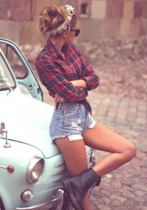 Clothing cute flannel girl outfit outfit idea pretty ...