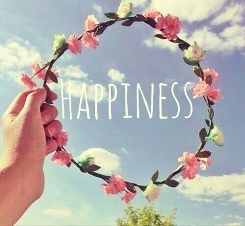 cute, flowers, happiness and happy