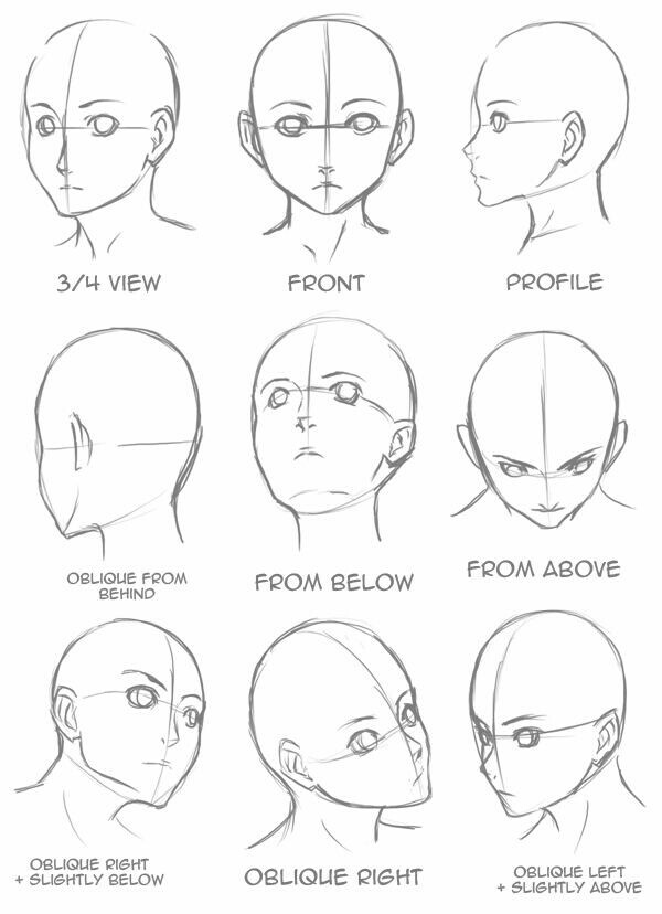 how to draw manga boy face