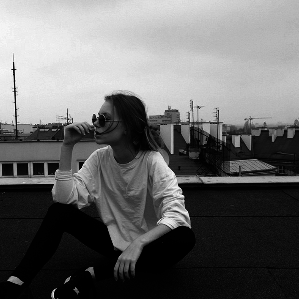 black and white, clothes, fashion and girl