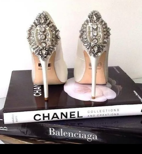 books, chanel, fashion, sandals, shoes, spikes