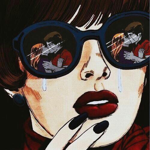 Pop art comic girl crying tumblr