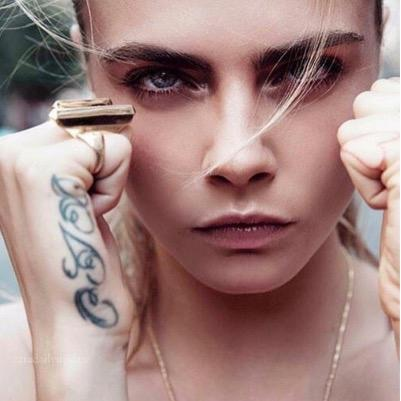 beautiful, cara, caradelevigne, fashion, gangsta, girl, gorgeous, hair, hipster, makeup, model, pretty, tatoo