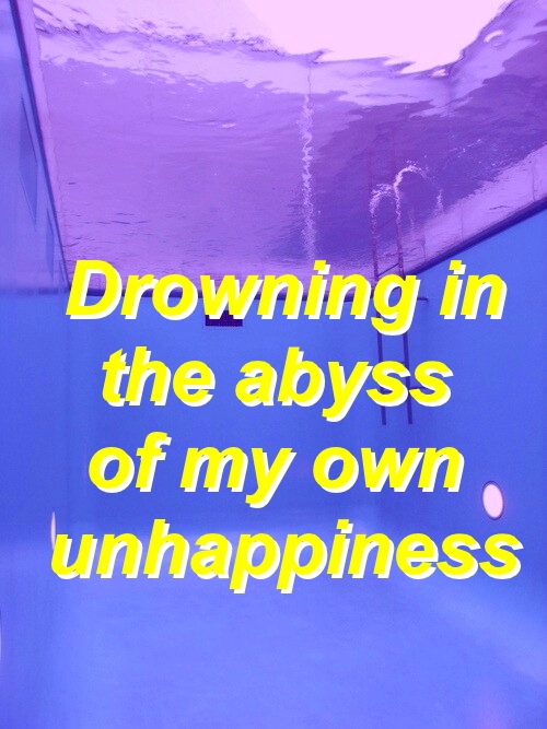 aesthetic, bad day, depressive and drowning
