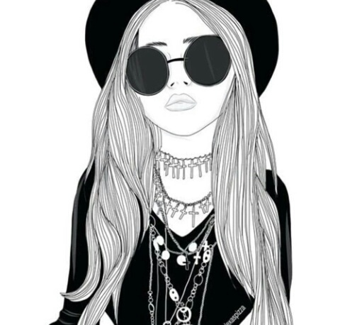 Cool Drawings for Girls – Free wallpaper download