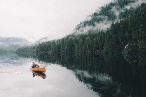 adventures, canoe, clouds, forest, free, hipster, lake, man, mist, mountains, myth, ship, spirit, travel, wanderlust, water