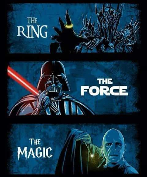 harry potter, star wars, the lord of the rings, the ring, the force, the magic