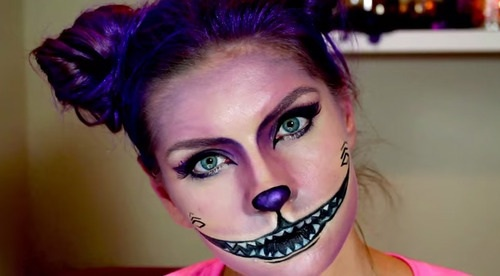 Maquillage chat cheshire - Maquillage halloween chat ...