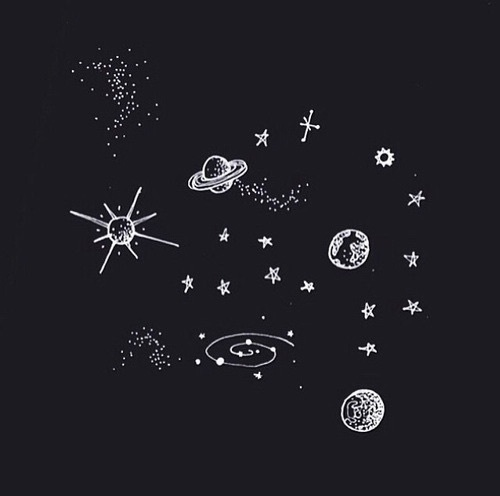 black, halloween, hipster, planet, science, space, stars