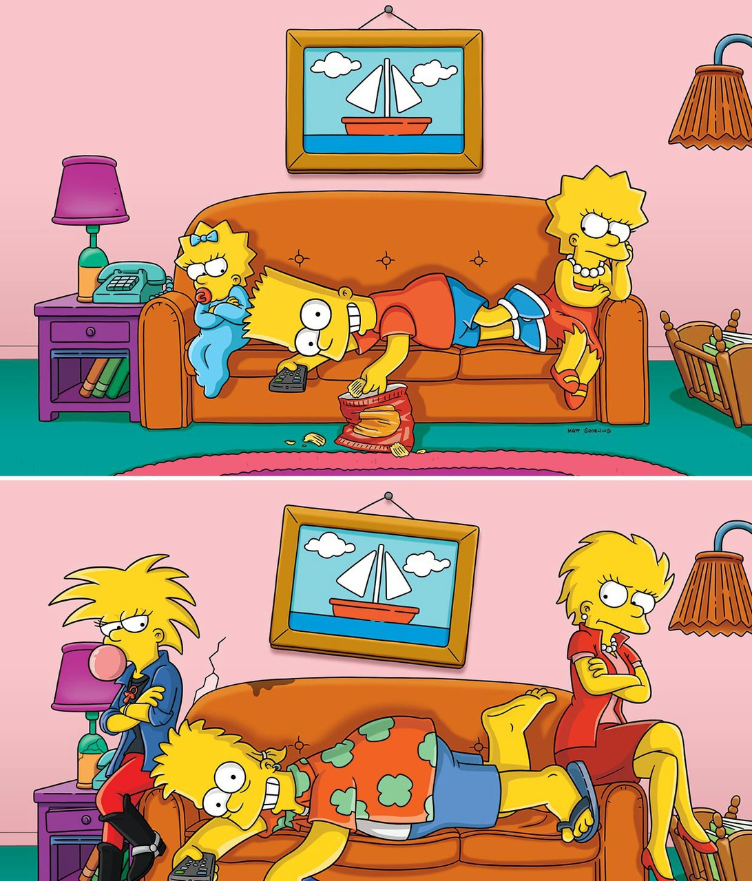 adults, cartoon, cool, kids, the simpsons
