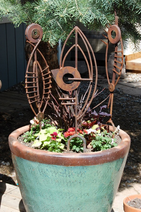 Metal Garden Decor, Recycled Metal Decor, Repurposed Metal Decorations and Upcycled Metal Designs