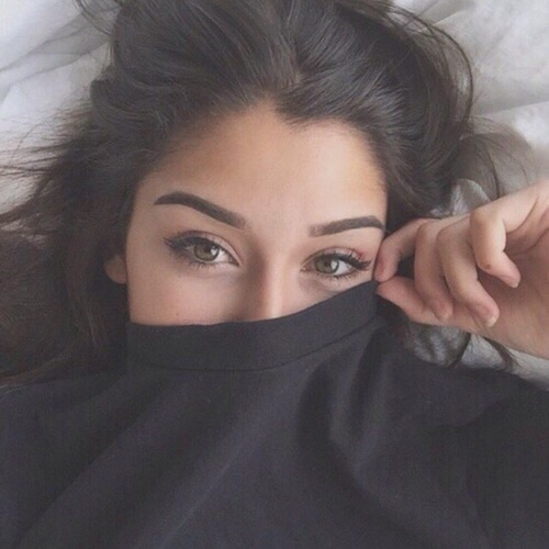 Beautiful Black Clothes Eyebrows Eyes Image 3760549 By Marky