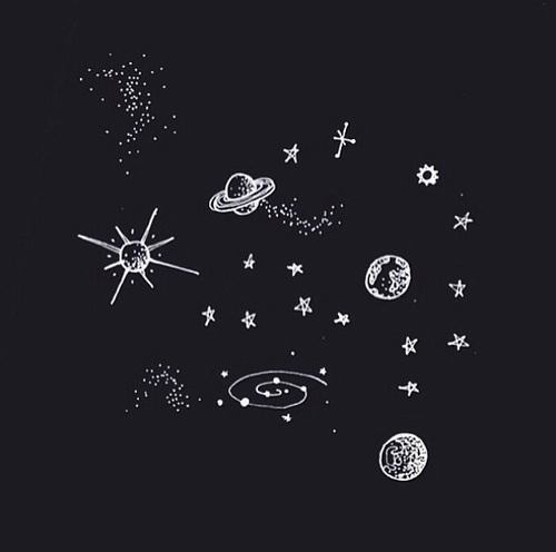 moon, planets, space, stars, universe