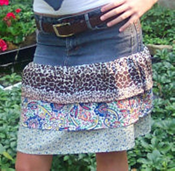DIY Old Denim Jeans into Fashionable Skirts - Recycled ...