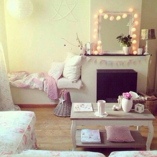 Bed bedroom book cool cushions image 3802779 by for Cool girly rooms