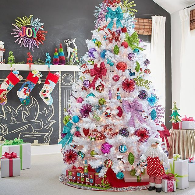 chalk, christmas, colorful, cute, decorations, fireplace, holiday, home, jcpenney, ornaments, pretty, stockings, tree