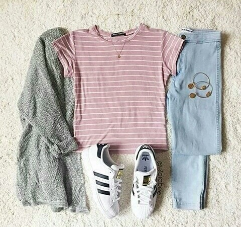 adidas, aesthetic, alternative, awesome, beautiful, beauty, cute, fall, fashion, girl, girls, girly, grunge, hipster, knit, love, ootd, outfits, pink, shirt, shoes, stripped, style, superstars, t-shirt, vintage, weather, winter, elagance