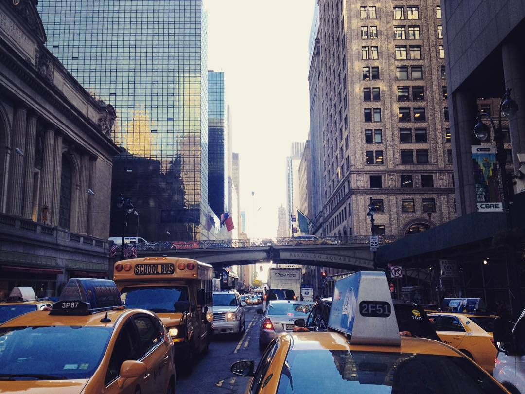 america, bright, bright lights and cabs